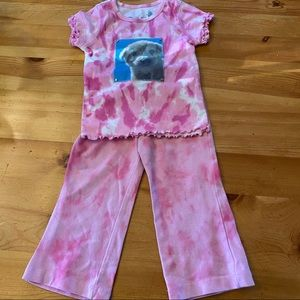 Tie dye set with puppy patch